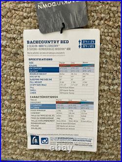 Sierra Designs Backcountry zipperless sleeping bag 30 womens regular scuba