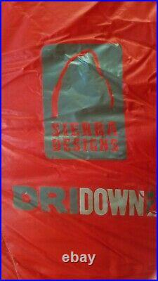 Sierra Designs Cal 6 800FP Goose Down Sleeping Bag Long Left