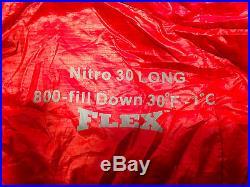 Sierra Designs Nitro Flex/strech Down 800 Sleeping Bag 30F-1C Long