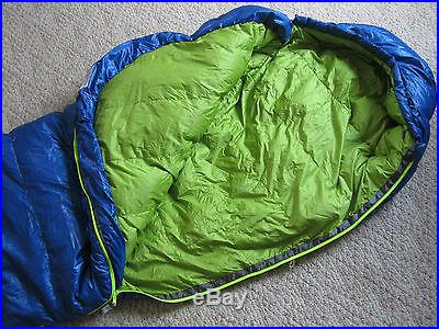 Sierra Designs Zissou 15 600 fill DriDown Sleeping Bag used two nights