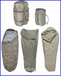 Sleep System US Army ACU IMSS 5 Piece Military Sleeping Bag USGI ECW Used VG