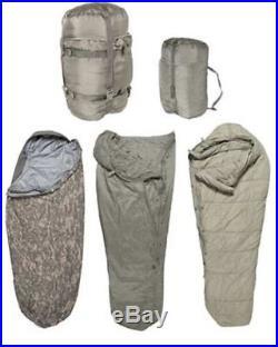 Sleep System US Army ACU IMSS 5 Piece Military Sleeping Bag USGI ECW used good