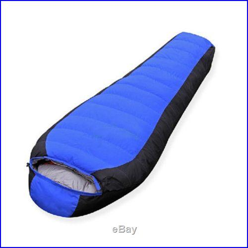 Sleeping Bag -10 ~ -25? Black+Blue Camping Outdoor Duck down 1500g Filler New