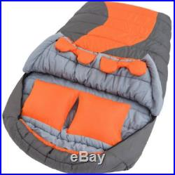 Sleeping Bag 20F Degree Cold Weather Double Mummy Removable Liner Zipped