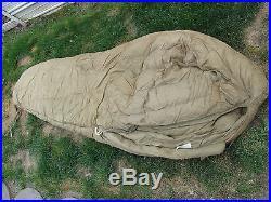 Sleeping Bag Light Weight Goose Down Fill US Mlitary M 1942 Eddie Bauer 72