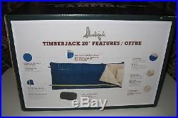 Slumberjack Timerjack 20 Degree Sleeping Bag in Blue New Sealed Box