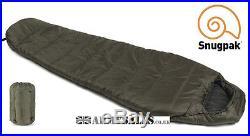 Snugpak SLEEPER LITE (BASECAMP) OLIVE 4 Season, Mummy Sleeping Bag with Hood