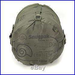 Snugpak Softie Elite 3 Military Army Camping Hiking 3 Season Sleeping Bag Green