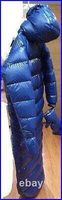 Suit sleeping bag 95% goose down duvet 2500 G shiny nylon brillant