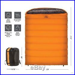 TETON Sports Mammoth Queen Size Sleeping Bag Warm and Comfortable. Free Ship(US)