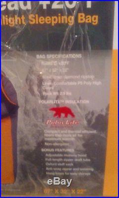 TETON Sports TrailHead +20 Degree F Ultralight Sleeping Bag 2.9 lbs