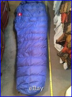 THE NORTH FACE 1 PERSON SLEEPING BAG GOOSE DOWN With 1 L STORAGE DUFFEL BAG & 1 S