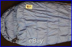 THE NORTH FACE Blue Kazoo Red 83 x 30 GOOSE DOWN Sleeping MUMMY Cold Weather BAG