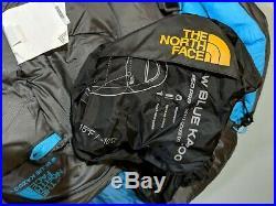 THE NORTH FACE Blue Kazoo Womens 15F/-10C Down Sleeping Bag Reg Right NEW