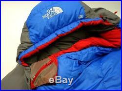 The North Face Blue Igloo 20° 600 Goose Down Sleeping Bag Camping Hammock Long