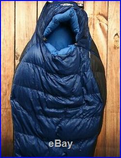 The North Face Blue Kazoo 15° 650 Goose Down Sleeping Bag Camping Hammock Long
