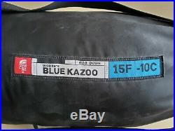 The North Face Blue Kazoo Sleeping Bag 15 Degree Down Womens