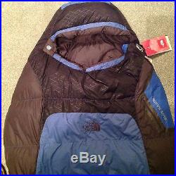 The North Face Blue Kazoo Sleeping Bag, Down Filled Regular Left Hand Zip