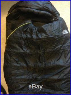 The North Face Dark Star Sleeping Bag -18F Regular Right (New) Mummy Black