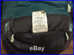 The North Face Green Kazoo Sleeping Bag 650 Pro Down Filled 0 F RIGHT NWT