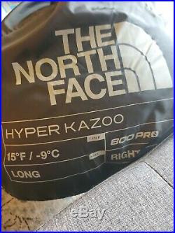 The North Face Hyper Kazoo 800 Pro Long Right Down Sleeping Bag