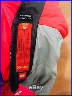 The North Face Inferno -40F 800 Down Sleeping Bag Size LONG Right Zip Silk Liner