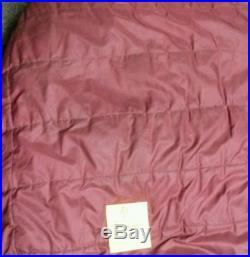 The North Face Sleeping Bag Versatech Mummy Maroon Hunting Camping 7' Feet long