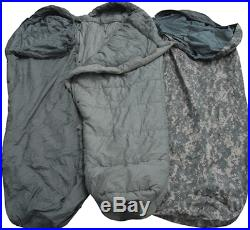 USGI Military ACU 5 Piece Modular Sleeping Bag Sleep System Digital Goretex