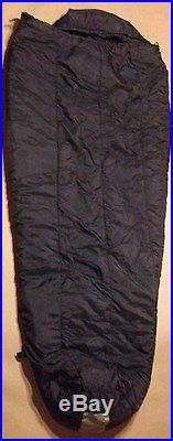 USMC Military INTERMEDIATE COLD WEATHER SLEEPING BAG BLACK Mummy VERY GOOD COND