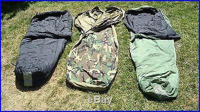 USMC US Military 4 Piece Modular Sleeping Bag Sleep System With GORETEX Bivy