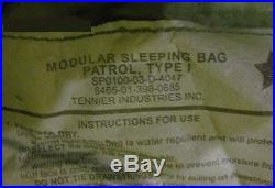 US Military 4 Piece Modular Sleeping Bag Sleep System Exc with NEW Waterproof Bivy