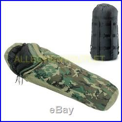 US Military 4 Piece Modular Sleeping Bag Sleep System MSS with GORETEX Bivy MINT