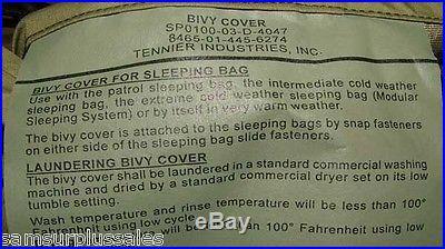 US Military 4 Piece Modular Sleeping Bag Sleep System w/GORTEX Bivy EXCELLENT
