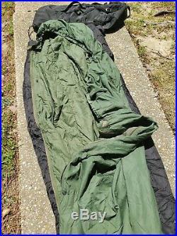 US Military 4 Piece Modular Sleeping Bag Sleep System with GORTEX Bivy VGC / EXC