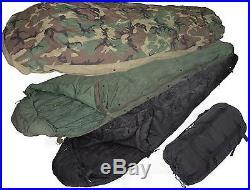 US Military Army 4 Piece Modular Sleep System Sleeping Bag withGORTEX Bivy ACC