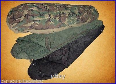 US Military MSS Modular Sleep System w/ Bivy 3 pc Sleeping Bags Fair/Good