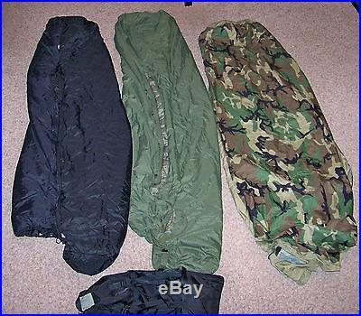 VGC USMC US Military 4 Piece Modular Sleeping Bag Sleep System GORTEX Bivy
