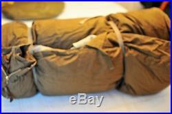 VINTAGE1950's WOODS ARCTIC 3 Star Down Sleeping Robe Bag Canvas & Wool