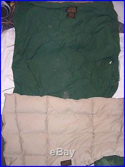 VINTAGE EDDIE BAUER HUGE SUPER THICK GOOSE DOWN FILL HOOD SLEEPING BAG 11 lbs