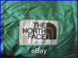 VINTAGE THE NORTH FACE GREY GOOSE DOWN SLEEPING BAG GREEN BROWN LABEL