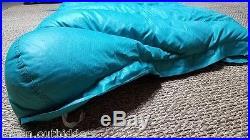 Vtg Eddie Bauer Karakoram Mummy Long Sleeping Bag Down Filled Ripstop Nylon