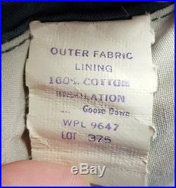 VTG Eddie Bauer Seattle USA Sleeping Bag 4# 100% Goose Down Twin 34x 77