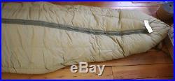 Vintage 50s 60s US Military Goose Down OD Green Mummy Sack Sleeping Bag
