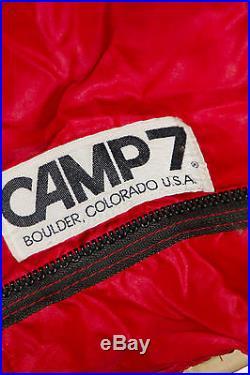 Vintage Camp 7 Goose Down Sleeping bag Red No 21452