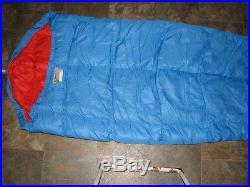 Vintage Eddie Bauer Goose Down Fill Mummy Sleeping Bag 86 Long
