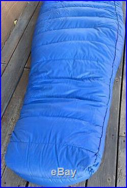 Vintage HOLUBAR Down Mummy Sleeping Bag with Stuff Sack Blue Boulder Colorado