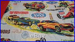 Vintage NHRA Drag Race Sleeping Bag one owner Winternationals Springnationals