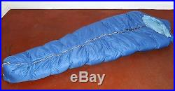 Vtg 70S REI CO-OP GOOSE DOWN COLD WEATHER MOUNTAINEERING MUMMY SLEEPING BAG LONG