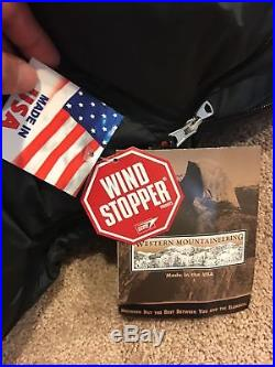 WESTERN MOUNTAINEERING Bison GWS GORE WS Down SLEEPING BAG Left Zipper LONG 6'6