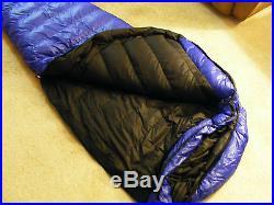 WESTERN MOUNTAINEERING DOWN SLEEPING BAG. ULTRALITE 6FT 6IN LONG LEFT ZIP